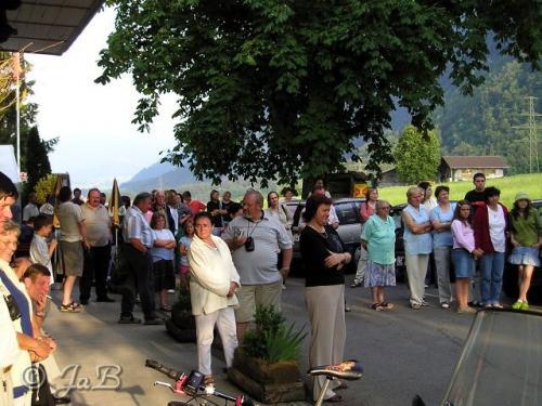 Návštěva občanů aobecního zastupitelstva Strunkovic nadBlanicí vOberstockenu.